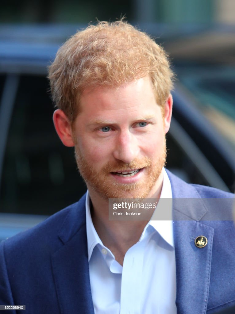 Prince Harry arrives to The Centre for Addiction and Mental Health ahead of the Invictus Games 2017 on September 23, 2017 in Toronto, Canada
