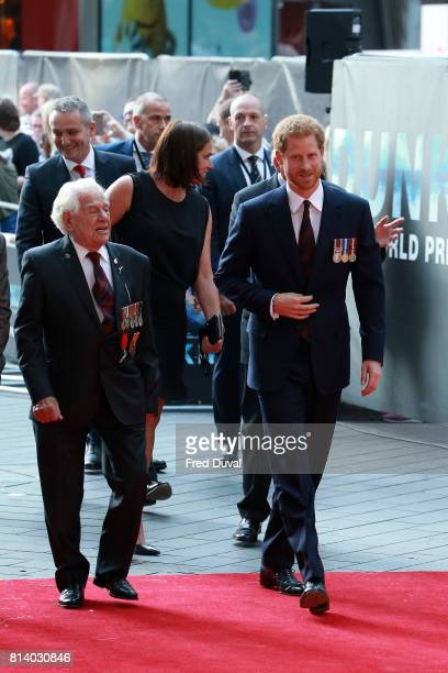 Prince Harry arriving at the 'Dunkirk' World Premiere at Odeon Leicester Square on July 13 2017 in London England
