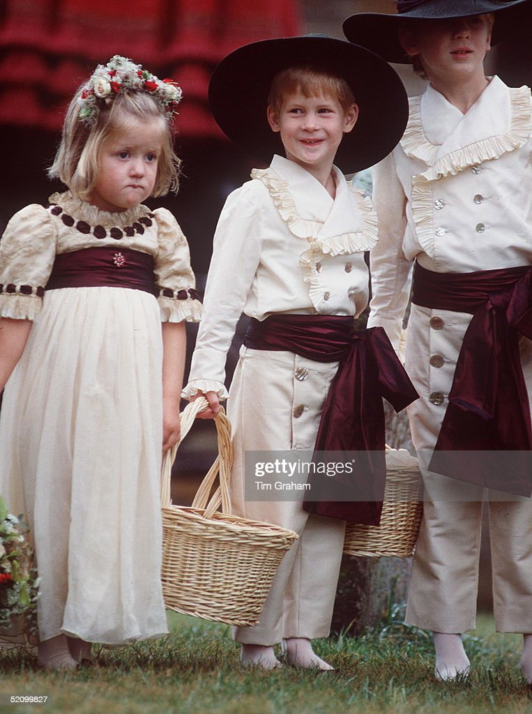 Prince Harry looked adorable at the age of five as pageboy for his uncle Charles Spencer (then Viscount Althorp) as he married his first wife Catherine Victoria Lockwood in 1989. Photo: Tim Graham