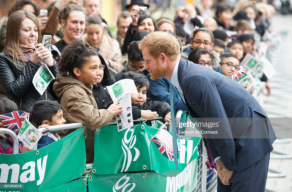 Prince Harry at Mildmay Hospital on December 14, 2015 in London, England.