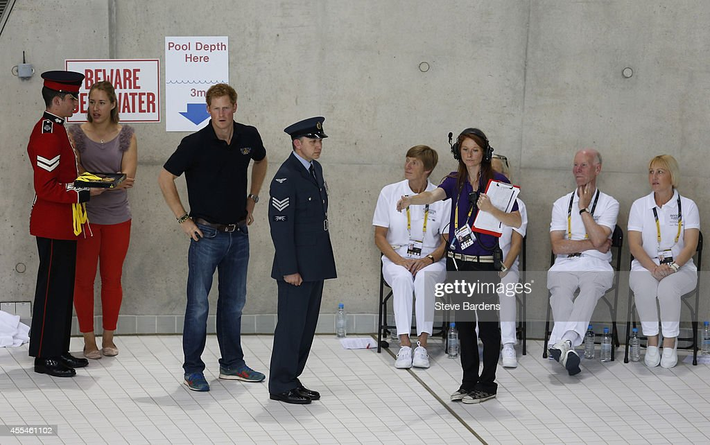 Prince Harry at the Invictus Games swimming at the London Aquatics Centre at Olympic Park on September 14, 2014 in London, England. Photo: