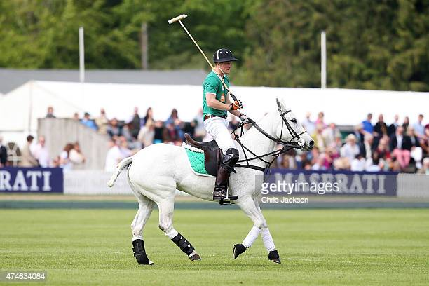 Prince Harry at the Maserati Jerudong Park Trophy at Cirencester Park Polo Club on May 24 2015 in Cirencester England