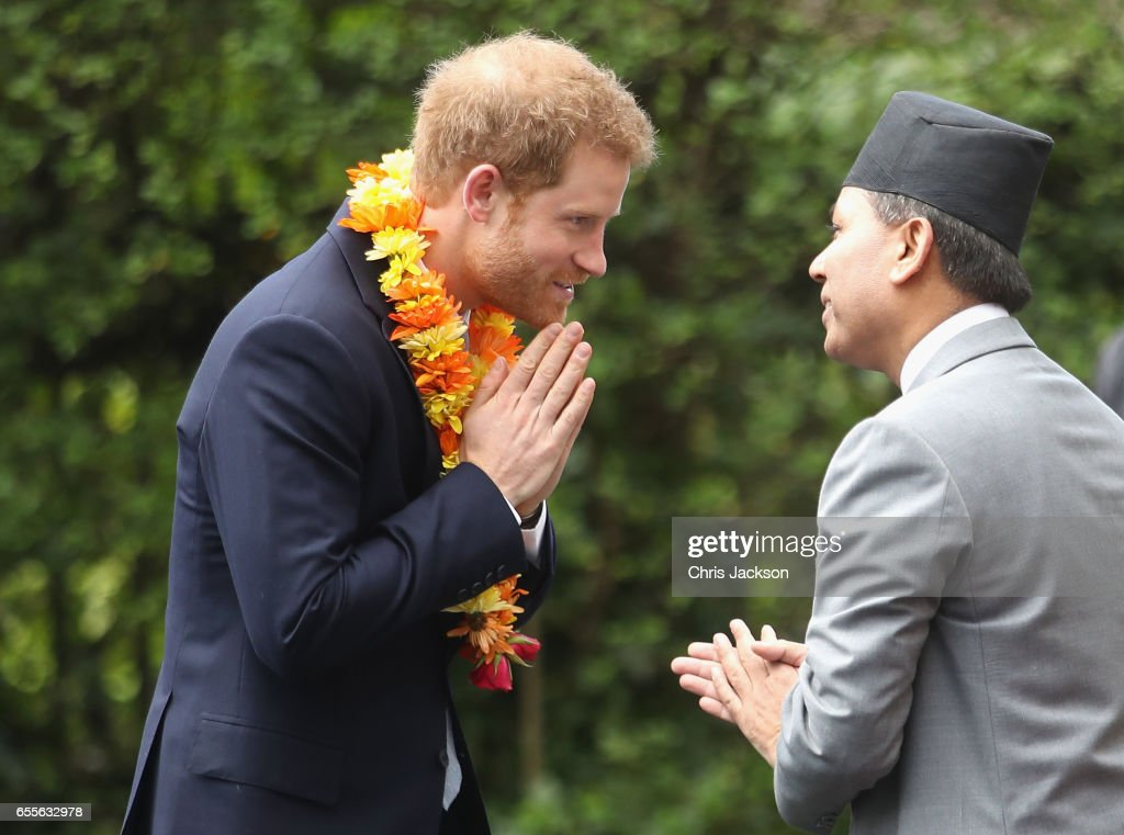 Prince Harry attends a ceremony to celebrate the bicentenary of relations between the UK and Nepal at Embassy of Nepal on March 20, 2017 in London, England.