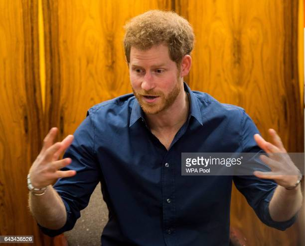 Prince Harry attends a charity event hosted by Walking With The Wounded as part of the Heads Together mental health campaign on February 21 2017 in...