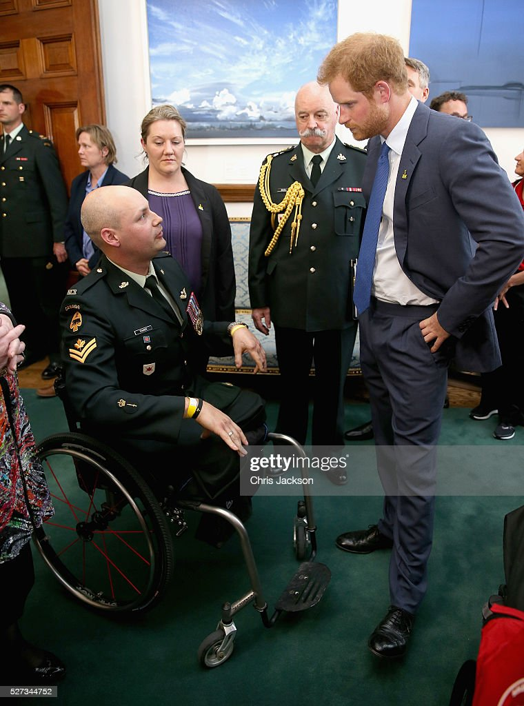 Prince Harry attends a reception for supporters and organisers of the Invictus Games Toronto at the Office of the Lieutenant Governor on May 2, 2016 in Toronto, Canada. Prince Harry is in Toronto for the Launch of the 2017 Toronto Invictus Games before heading down to Miami and the 2016 Invictus Games in Orlando.