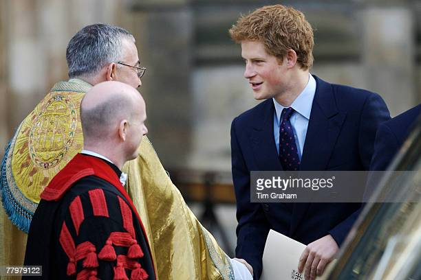 Prince Harry attends a service of thanksgiving at Westminster Abbey to celebrate the Queen and Prince Philip's Diamond Wedding Anniversary November...