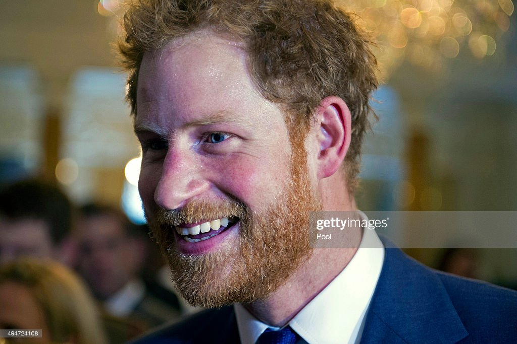 Prince Harry attends an Invictus Games reception at the British Ambassador's Residence on October 28, 2015 in Washington DC.