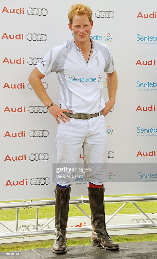 <a gi-track='captionPersonalityLinkClicked' href=/galleries/search?phrase=Prince+Harry&family=editorial&specificpeople=178173 ng-click='$event.stopPropagation()'>Prince Harry</a> attends day 2 of the Audi Polo Challenge at Coworth Park Polo Club on August 4, 2013 in Ascot, England.