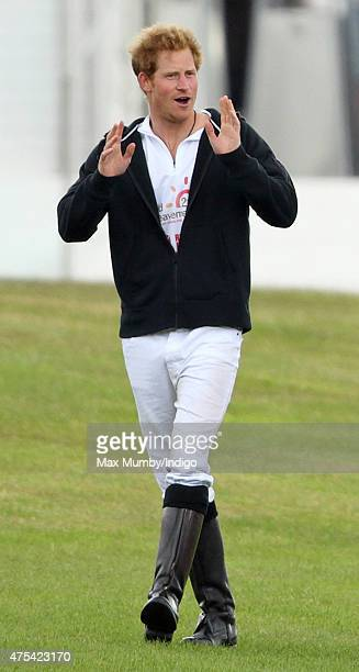 Prince Harry attends day 2 of the Audi Polo Challenge at Coworth Park on May 31 2015 in Ascot England