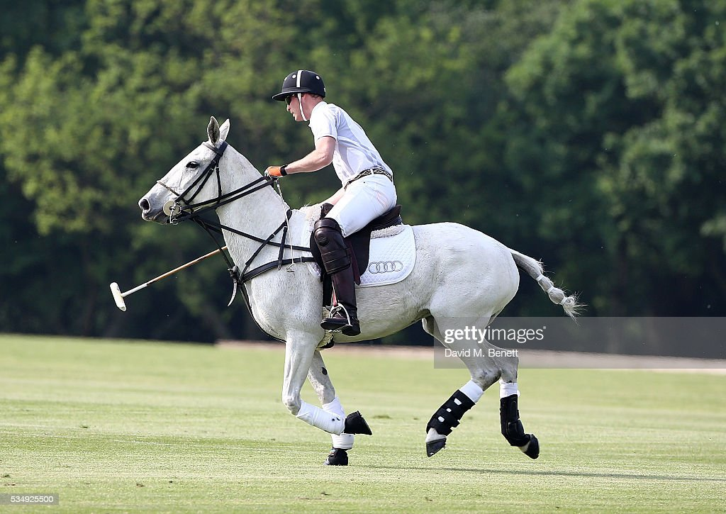 <a gi-track='captionPersonalityLinkClicked' href=/galleries/search?phrase=Prince+Harry&family=editorial&specificpeople=178173 ng-click='$event.stopPropagation()'>Prince Harry</a> attends day one of the Audi Polo Challenge at Coworth Park on May 28, 2016 in London, England.