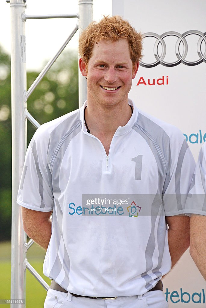 Prince Harry attends day two of the Audi Polo Challenge at Coworth Park Polo Club on June 1, 2014 in Ascot, England.