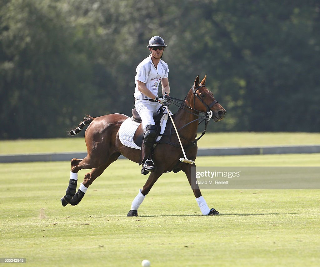 <a gi-track='captionPersonalityLinkClicked' href=/galleries/search?phrase=Prince+Harry&family=editorial&specificpeople=178173 ng-click='$event.stopPropagation()'>Prince Harry</a> attends day two of the Audi Polo Challenge at Coworth Park on May 29, 2016 in London, England.