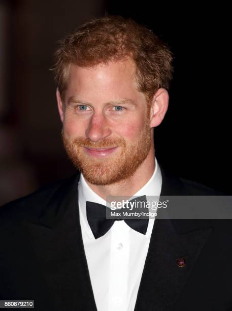 Prince Harry attends the 100 Women in finance Gala dinner in aid of WellChild at the Victoria and Albert Museum on October 11 2017 in London England