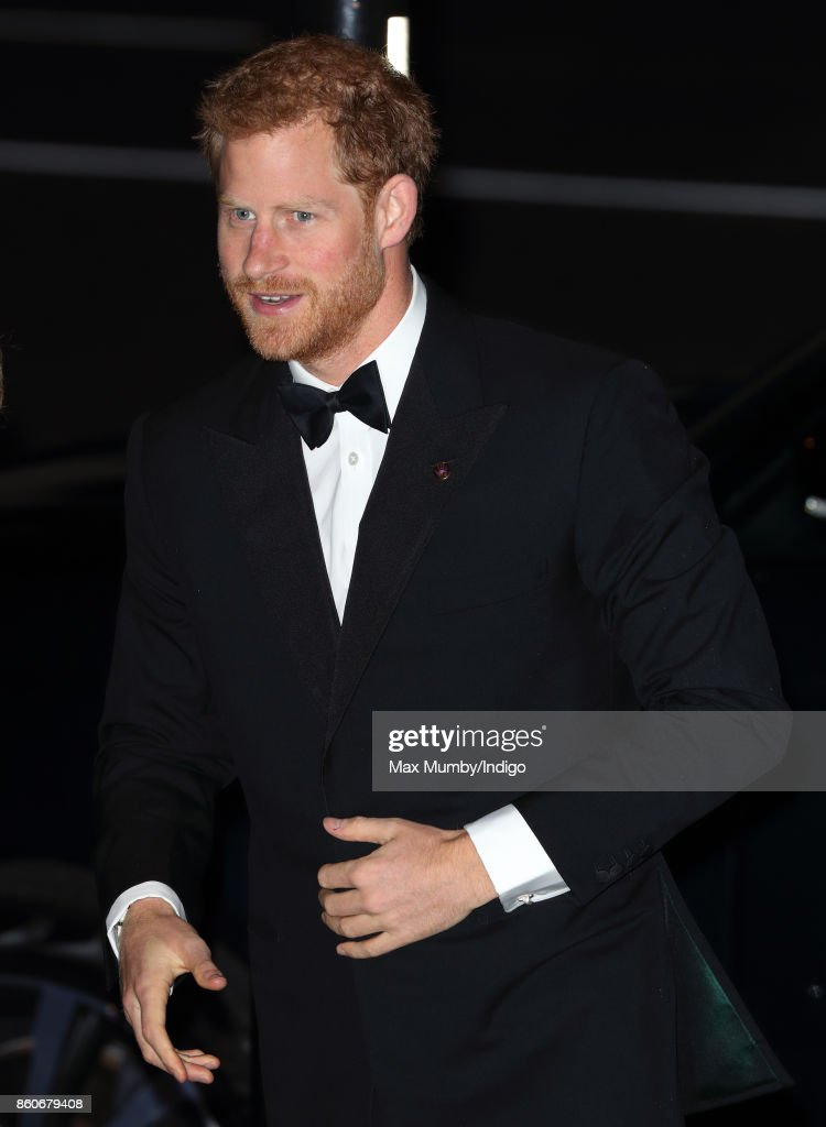 Prince Harry attends the 100 Women in finance Gala dinner in aid of WellChild at the Victoria and Albert Museum on October 11, 2017 in London, England.