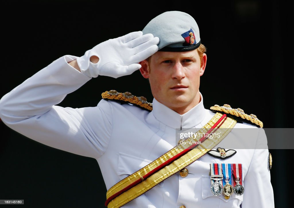 <a gi-track='captionPersonalityLinkClicked' href=/galleries/search?phrase=Prince+Harry&family=editorial&specificpeople=178173 ng-click='$event.stopPropagation()'>Prince Harry</a> attends The 2013 International Fleet Review on October 5, 2013 in Sydney, Australia. Over 50 ships participate in the International Fleet Review at Sydney Harbour to commemorate the 100 year anniversary of the Royal Australian Navy's fleet arriving into Sydney. <a gi-track='captionPersonalityLinkClicked' href=/galleries/search?phrase=Prince+Harry&family=editorial&specificpeople=178173 ng-click='$event.stopPropagation()'>Prince Harry</a> is an official guest of the Australian Government and will take part in the fleet review during his two-day visit to Australia.