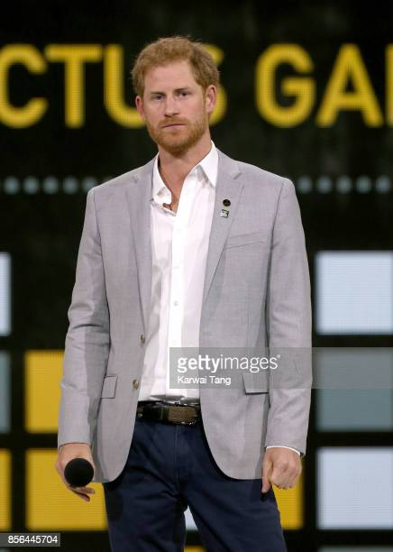 Prince Harry attends the Closing Ceremony on day 8 of the Invictus Games Toronto 2017 at the Air Canada Centre on September 30 2017 in Toronto Canada...