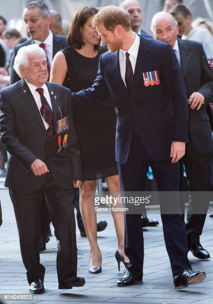 Prince Harry attends the 'Dunkirk' World Premiere at Odeon Leicester Square on July 13 2017 in London England