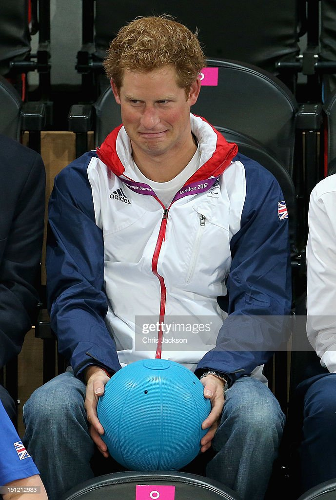 Prince Harry attends the Goalball on day 6 of the London 2012 Paralympic Games at The Copper Box on September 4, 2012 in London, England.