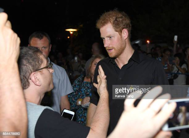 Prince Harry attends the Invictus Games Foundation reception at CN Tower on September 26 2017 in Toronto Canada The Games use the power of sport to...