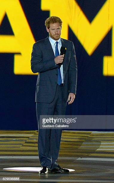 Prince Harry attends the Invictus Games Orlando 2016 Opening Ceremony on May 8 2016 in Palm Beach Florida