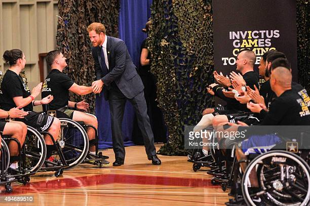 Prince Harry attends the Joining Forces Invictus Games 2016 Event at the Wells Fields House on October 28 2015 in Fort Belvoir Va
