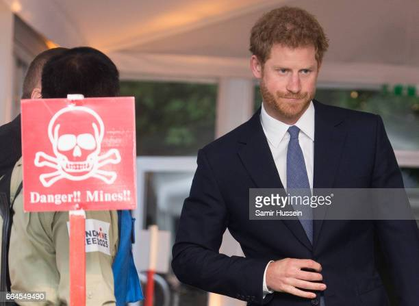 Prince Harry attends The Landmine Free World 2025 reception on International Mine Awareness Day at The Orangery on April 4 2017 in London England...