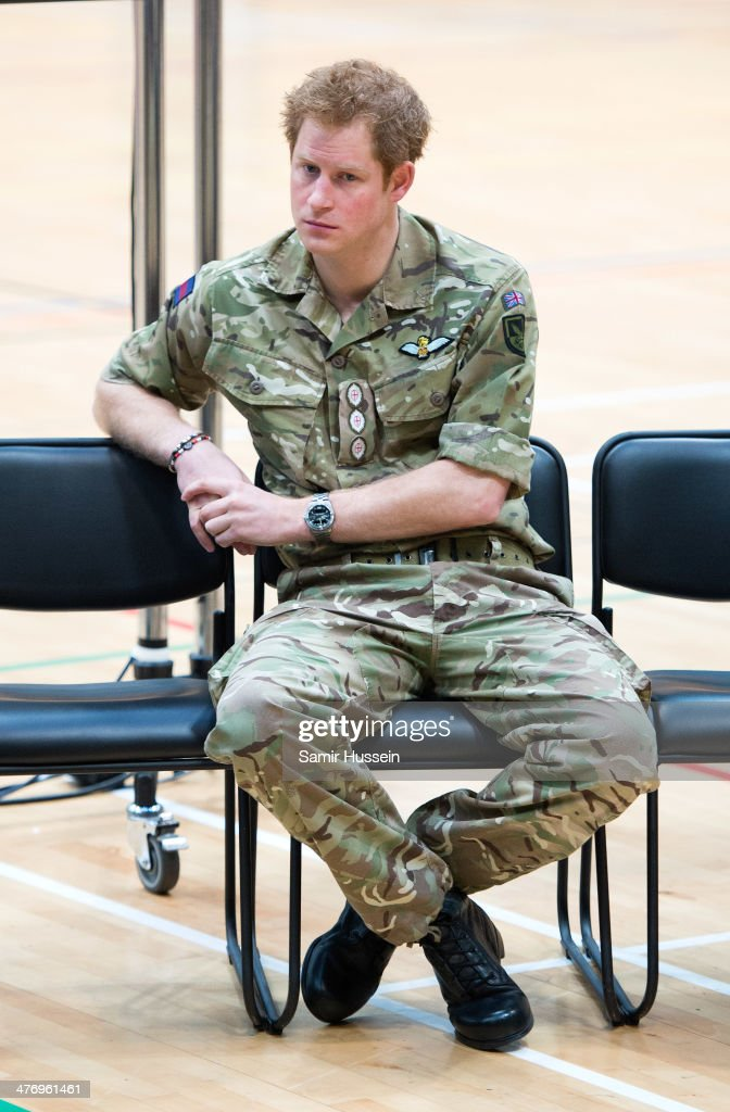 <a gi-track='captionPersonalityLinkClicked' href=/galleries/search?phrase=Prince+Harry&family=editorial&specificpeople=178173 ng-click='$event.stopPropagation()'>Prince Harry</a> attends the launch of the Invictus Games For Our Wounded Warriors at the Copper Box on March 6, 2014 in London, England.