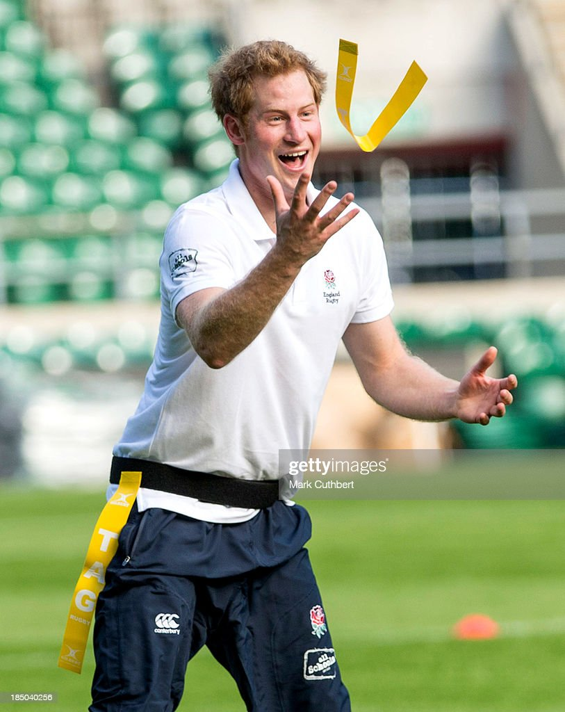 <a gi-track='captionPersonalityLinkClicked' href=/galleries/search?phrase=Prince+Harry&family=editorial&specificpeople=178173 ng-click='$event.stopPropagation()'>Prince Harry</a> attends the RFU All School programme coaching event at Twickenham Stadium on October 17, 2013 in London, England.