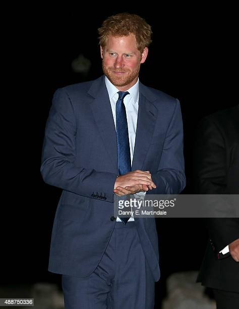 Prince Harry attends the Rugby World Cup 2015 welcome party at The Foreign Office on September 17 2015 in London England