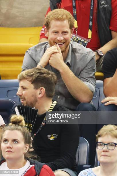 Prince Harry attends the Sitting Volleyball Finals during the Invictus Games 2017 at Mattamy Athletic Centre on September 27 2017 in Toronto Canada