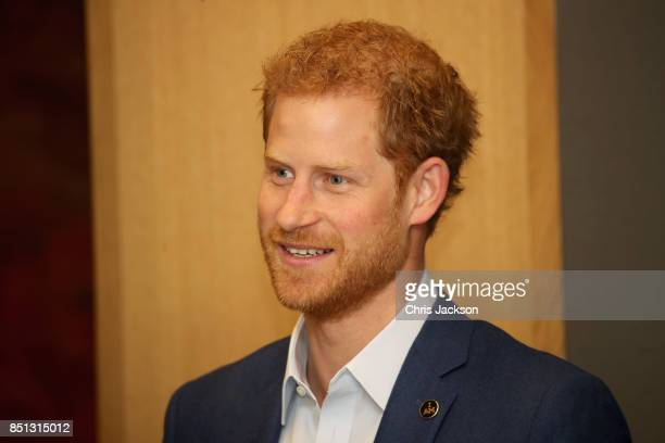 Prince Harry attends the True Patriot Love Symposium at Scotia Plaza during a pre Invictus Games event on September 22 2017 in Toronto Canada