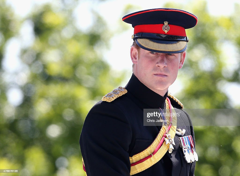 Prince Harry attends the unveiling of the Bastion Memorial at The National Memorial Arboretum on June 11, 2015 in Stafford, England.