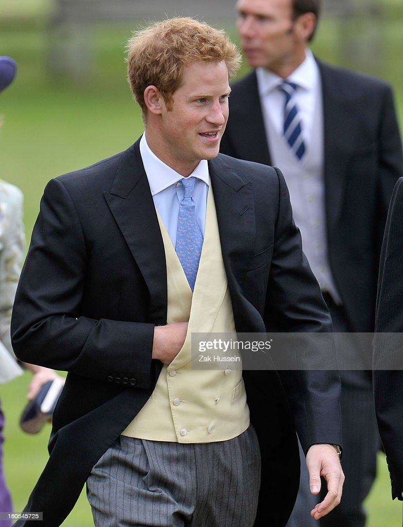 <a gi-track='captionPersonalityLinkClicked' href=/galleries/search?phrase=Prince+Harry&family=editorial&specificpeople=178173 ng-click='$event.stopPropagation()'>Prince Harry</a> attends the wedding of James Meade And Lady Laura Marsham on September 14, 2013 in King's Lynn, England.