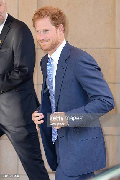 Prince Harry attends the WellChild Awards at The Dorchester on October 3 2016 in London England