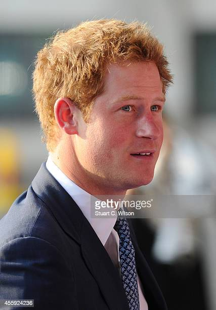 Prince Harry attends the WellChild awards at the London Hilton on September 22 2014 in London England
