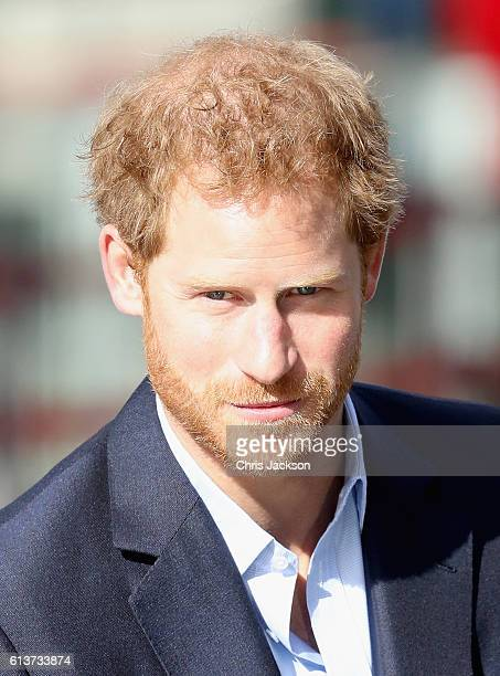 Prince Harry attends the World Mental Health Day celebration with Heads Together at the London Eye on October 10 2016 in London England