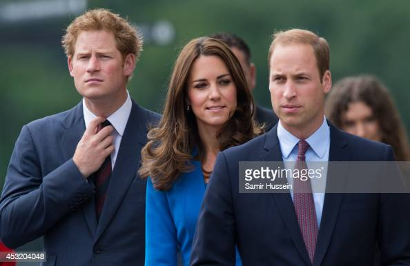 Prince Harry Catherine Duchess of Cambridge and Prince William Duke of Cambridge visit The Tower Of London's Ceramic Poppy installation 'Blood Swept...