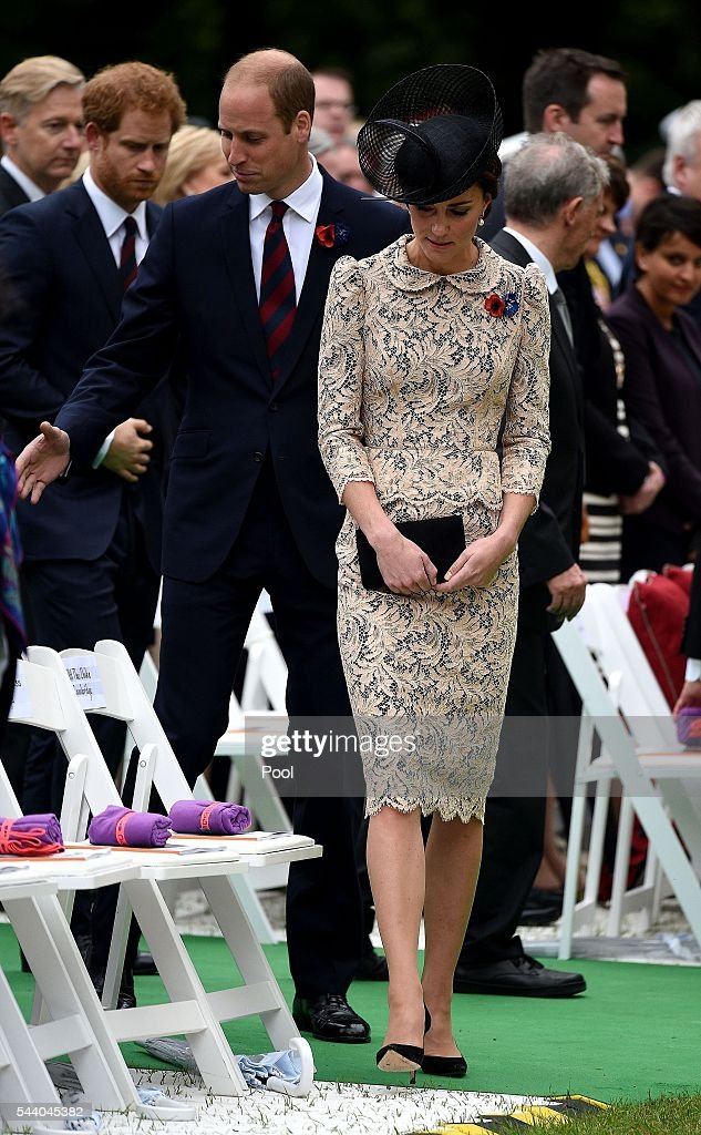 <a gi-track='captionPersonalityLinkClicked' href=/galleries/search?phrase=Prince+Harry&family=editorial&specificpeople=178173 ng-click='$event.stopPropagation()'>Prince Harry</a>, Catherine, Duchess of Cornwall and <a gi-track='captionPersonalityLinkClicked' href=/galleries/search?phrase=Prince+William&family=editorial&specificpeople=178205 ng-click='$event.stopPropagation()'>Prince William</a>, Duke of Cambridge arrive for the Commemoration of the Centenary of the Battle of the Somme at the Commonwealth War Graves Commission Thiepval Memorial on July 1, 2016 in Thiepval, France. The event is part of the Commemoration of the Centenary of the Battle of the Somme at the Commonwealth War Graves Commission Thiepval Memorial in Thiepval, France, where 70,000 British and Commonwealth soldiers with no known grave are commemorated.