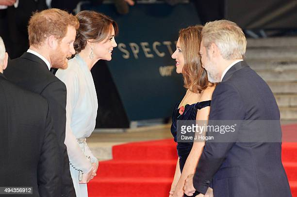 Prince Harry Catherine Duchess of Cambridge Barbara Broccoli and Director Sam Mendes attend the Royal World Premiere of 'Spectre' at Royal Albert...