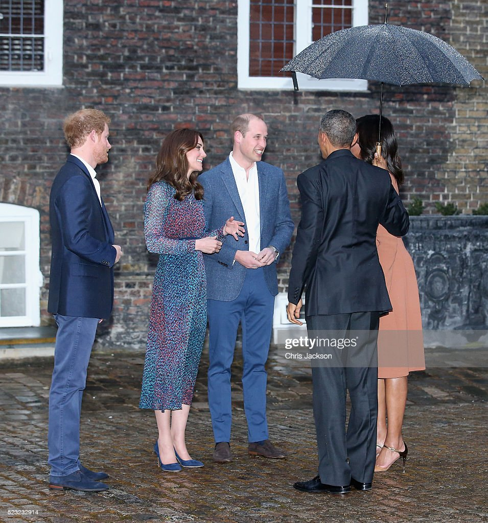 The Obamas Dine At Kensington Palace Getty Images