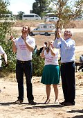 Prince Harry Cathy Ferreira and Phillip Green during the opening of Mamahato Childrens centre for orphans and families affected by HIV and AIDS on...