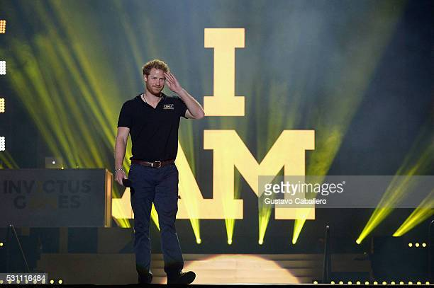 Prince Harry closing remarks during the Invictus Games Orlando 2016 Closing Ceremony at ESPN Wide World of Sports Complex on May 12 2016 in Lake...