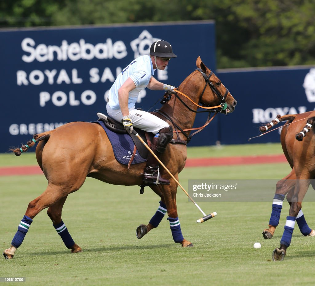 Prince Harry competes at the Greenwich Polo Club during the sixth day of HRH Prince Harry's visit to the United States. The Sentebale Royal Salute Polo Cup took place at Greenwich Polo Club on Wednesday 15th May. The Sentebale Land Rover team was captained by Royal Salute Ambassador Malcolm Borwick with team members Marc Ganzi, Michael Carrazza and Prince Harry, one of the founding Patrons of Sentebale. The St. Regis polo team was captained by Sentebale's Ambassador Nacho Figueras with team members Peter Orthwein, Steve Lefkowitz and Dawn Jones. Royal Salute played host to a number of high profile celebrities including His Grace Torquhil Ian Campbell, the 13th Duke of Argyll, Karolina Kurkova and Olivia Palermo. Royal Salute World Polo is a global programme, which now supports tournaments across four continents. The luxury Scotch's involvement with Polo is founded on the game's incredible power, skill and elegance; qualities which blend perfectly with Royal Salute Scotch whisky, at Greenwich Polo Club on May 15, 2013 in Greenwich, Connecticut.