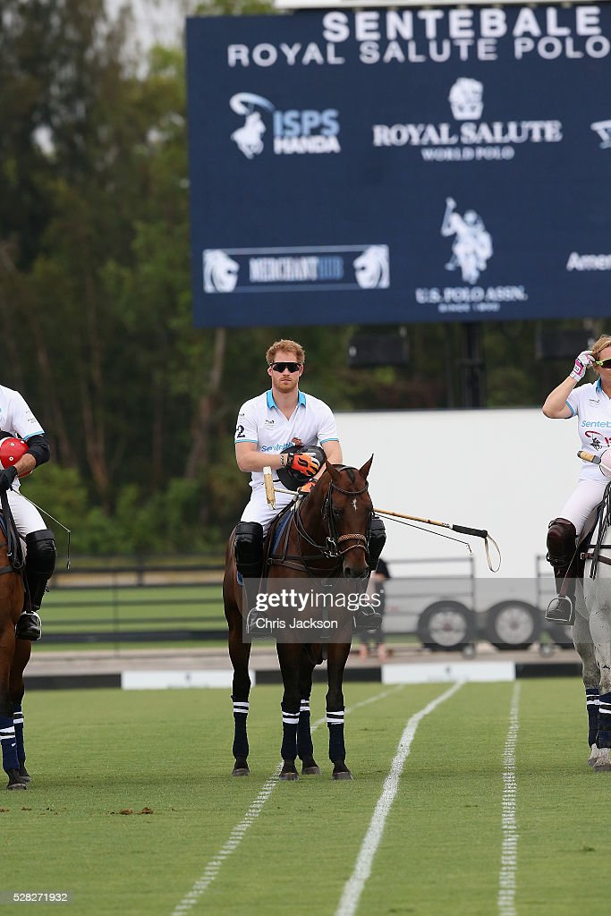 <a gi-track='captionPersonalityLinkClicked' href=/galleries/search?phrase=Prince+Harry&family=editorial&specificpeople=178173 ng-click='$event.stopPropagation()'>Prince Harry</a> competes during the Sentebale Royal Salute Polo Cup in Palm Beach at Valiente Polo Farm on May 4, 2016 in Palm Beach, United. The event will raise money for <a gi-track='captionPersonalityLinkClicked' href=/galleries/search?phrase=Prince+Harry&family=editorial&specificpeople=178173 ng-click='$event.stopPropagation()'>Prince Harry</a>'s charity Sentebale, which supports vulnerable children and young people living with HIV in Lesotho in southern Africa.
