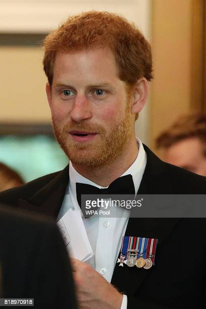Prince Harry during a reception at Trinity House in London for Project Vernon a campaign to install a monument dedicated to the heritage of HMS...
