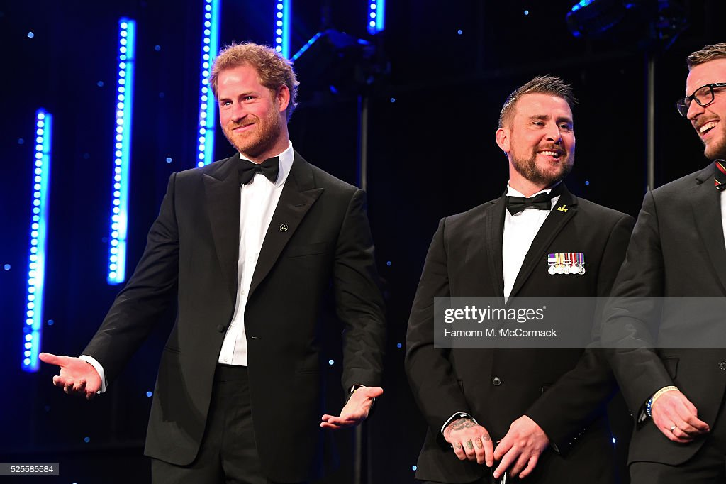 <a gi-track='captionPersonalityLinkClicked' href=/galleries/search?phrase=Prince+Harry&family=editorial&specificpeople=178173 ng-click='$event.stopPropagation()'>Prince Harry</a> gestures on stage as he talks about the Invictus Games at Battersea Evolution on April 28, 2016 in London, England. The BT Sport Industry Awards is the most prestigious commercial sports awards ceremony in Europe, where over 1750 of the industry's key decision-makers mix with high profile sporting celebrities for the most important networking occasion in the sport business calendar.