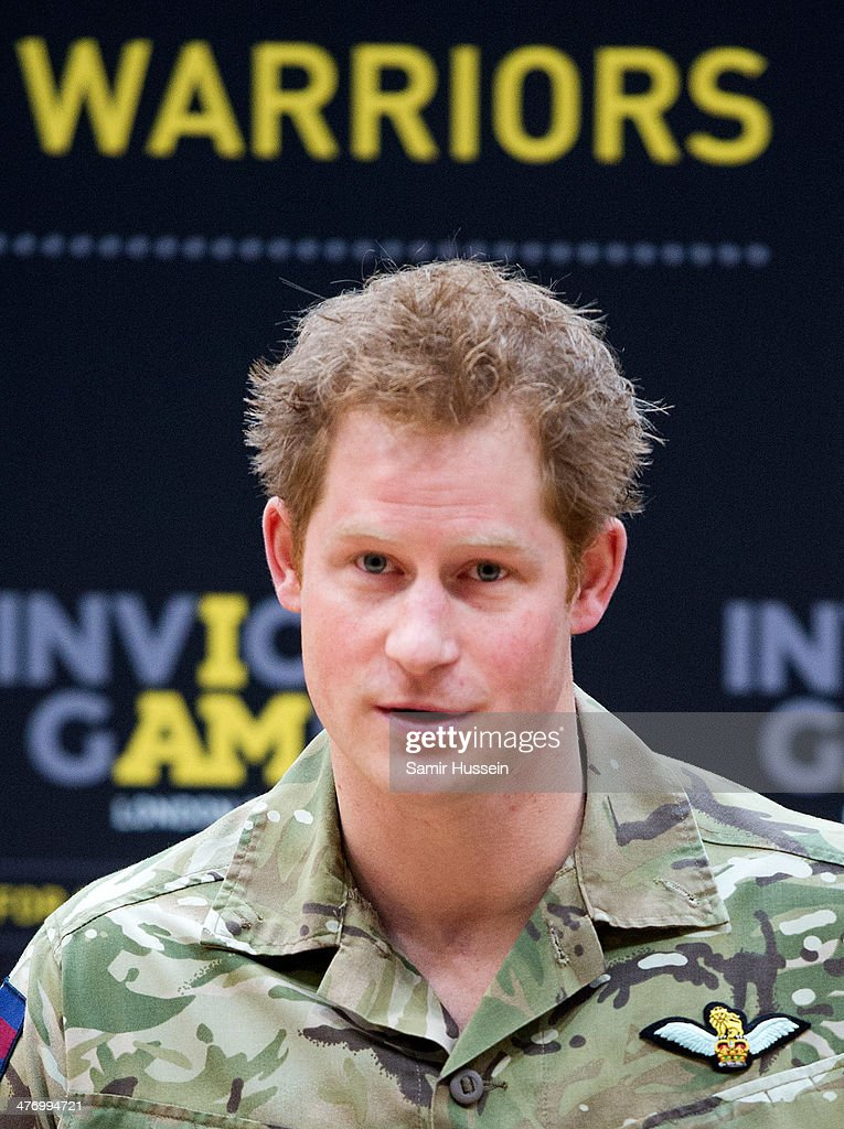 <a gi-track='captionPersonalityLinkClicked' href=/galleries/search?phrase=Prince+Harry&family=editorial&specificpeople=178173 ng-click='$event.stopPropagation()'>Prince Harry</a> gives a speech as he attends the launch of the Invictus Games For Our Wounded Warriors at the Copper Box on March 6, 2014 in London, England. The Invictus Games for wounded, injured and sick serivce personnel will use the power of sport to inspire recovery, support rehabilitation and generate a wider understanding of those who serve the country. <a gi-track='captionPersonalityLinkClicked' href=/galleries/search?phrase=Prince+Harry&family=editorial&specificpeople=178173 ng-click='$event.stopPropagation()'>Prince Harry</a> has brought the Games to the UK following a trip to see the Warrior Games in Colorado in 2013. 300 competitors from around the world will take part from the 10th-14th September.