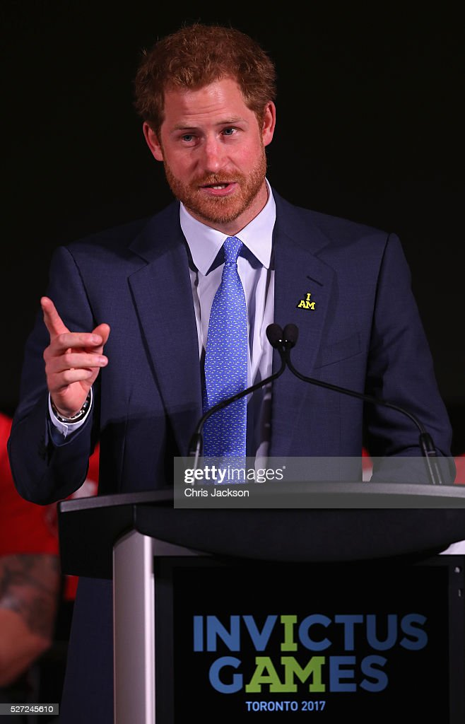 <a gi-track='captionPersonalityLinkClicked' href=/galleries/search?phrase=Prince+Harry&family=editorial&specificpeople=178173 ng-click='$event.stopPropagation()'>Prince Harry</a> gives a speech at the Lauch of Invictus 2017 Toronto at the Fairmont Royal York Hotel on May 2, 2016 in Toronto, Canada. <a gi-track='captionPersonalityLinkClicked' href=/galleries/search?phrase=Prince+Harry&family=editorial&specificpeople=178173 ng-click='$event.stopPropagation()'>Prince Harry</a> is in Toronto for the Launch of the 2017 Toronto Invictus Games before heading down to Miami and the 2016 Invictus Games in Orlando.