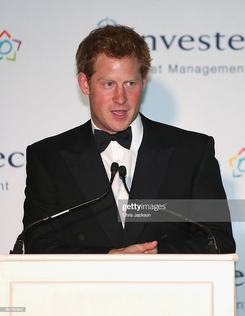 <a gi-track='captionPersonalityLinkClicked' href=/galleries/search?phrase=Prince+Harry&family=editorial&specificpeople=178173 ng-click='$event.stopPropagation()'>Prince Harry</a> gives a speech at the Sentebale Gala Dinner at Summer Place on February 27, 2013 in Johannesburg, South Africa. Sentebale is a charity founded by <a gi-track='captionPersonalityLinkClicked' href=/galleries/search?phrase=Prince+Harry&family=editorial&specificpeople=178173 ng-click='$event.stopPropagation()'>Prince Harry</a> and Prince Seeiso of Lesotho. It helps the most vulnerable children in Lesotho get the support they need to lead healthy and productive lives. Sentebale works with local grassroots organisations to help these children, the victims of extreme poverty and Lesotho's HIV/AIDS epidemic.
