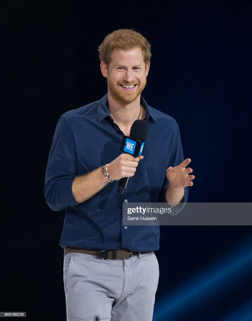 Prince Harry gives a speech at WE Day on day 6 of the Invictus Games Toronto 2017 on September 28, 2017 in Toronto, Canada. The Games use the power of sport to inspire recovery, support rehabilitation and generate a wider understanding and respect for the Armed Forces.